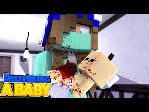 LITTLE CARLY DELIVERS A BABY!! (Minecraft Custom Roleplay).