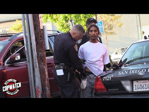 Copwatch | Cops Snatch Up Man in Alley Trying to Visit His Kids | Arrested for Warrant