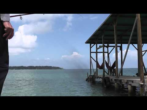 9. Fishing From The Decking. Bocas Del Toro. Panama.