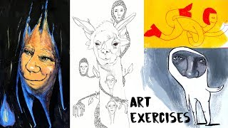 5 Awesome Drawing + Painting Exercises