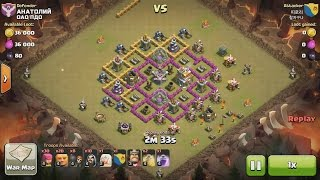 Clash of Clans TH7 vs TH7 Giant, Wizard & Healer (GiWiHe) Clan War 3 Star Attack