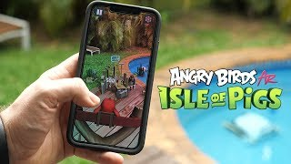 Angry Birds in Augmented Reality! Isle of Pigs App Review