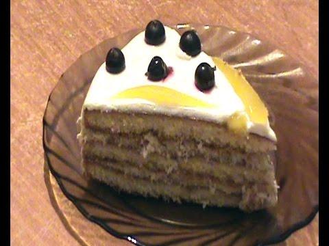 Быстрый торт из готовых коржей.Торт без выпечки.