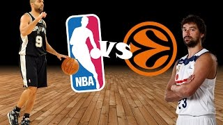 Top 5 best games - nba vs euroleague teams (2012-2016)