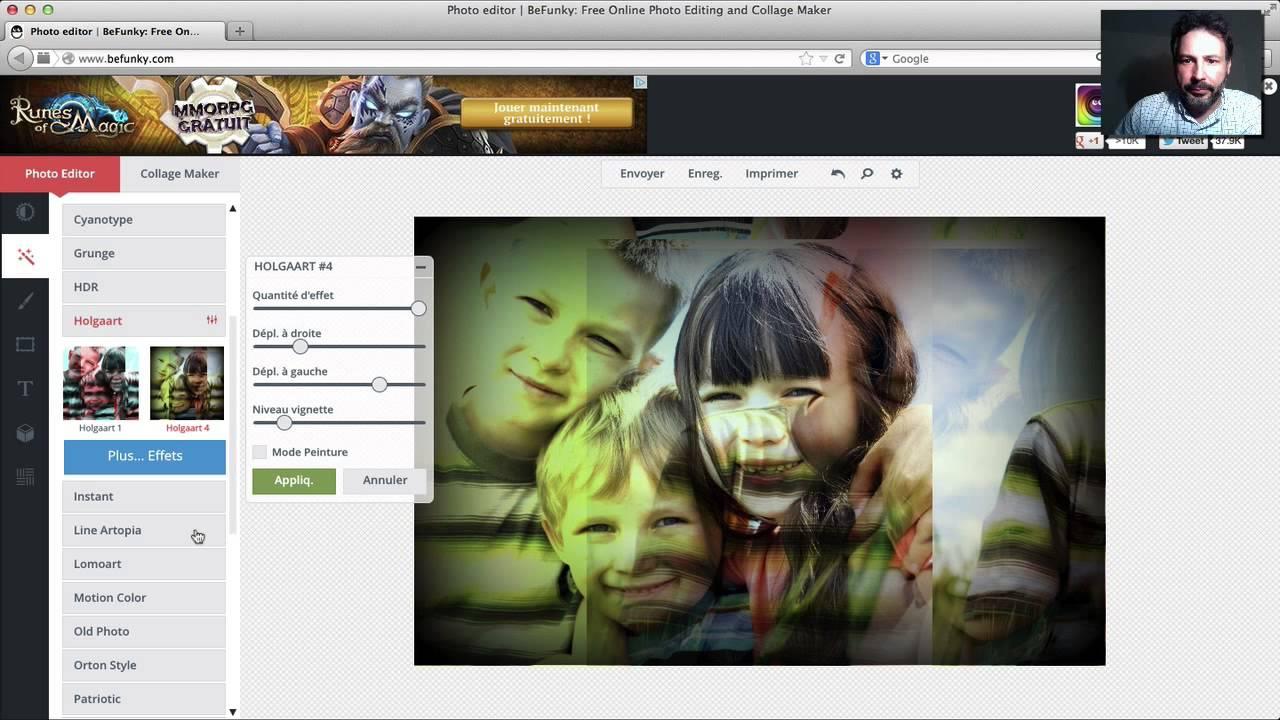 Befunky la retouche en ligne qui fait de l 39 effet youtube for Planificateur en ligne gratuit