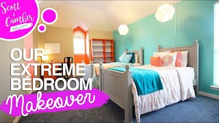 EXTREME FULL BEDROOM MAKEOVER!! - AMAZING TRANSFORMATION BEFORE AND AFTER!!   Scott and Camber