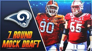 Do The Rams Draft Dexter Lawrence or Garrett Bradbury? | LA Rams 7 Round Mock Draft