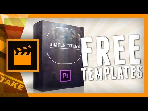 Simple titles for premiere pro cinecom simple titles is a bundle of 10 title templates for premiere pro the titles are pre animated and easy adjustable with the help of an included tutorial maxwellsz