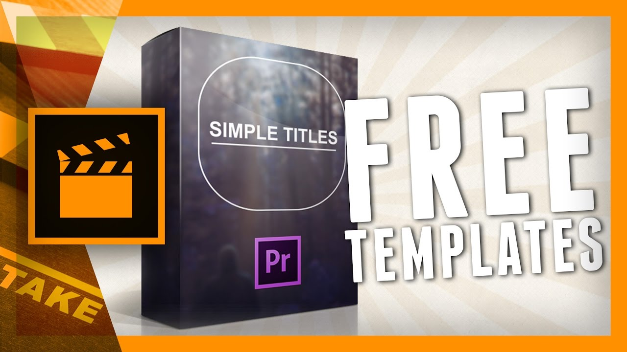 Free Titles for Premiere Pro - Cinecom Simple Titles | cinema5D