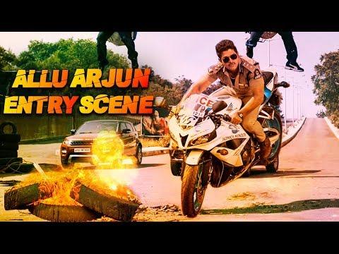 Allu Arjun's Entry Scene As Police Officer   Blockbuster Action & Fight Scene Of Allu Arjun   Action