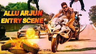 Allu Arjun's Entry Scene As Police Officer | Blockbuster Action & Fight Scene Of Allu Arjun | Action