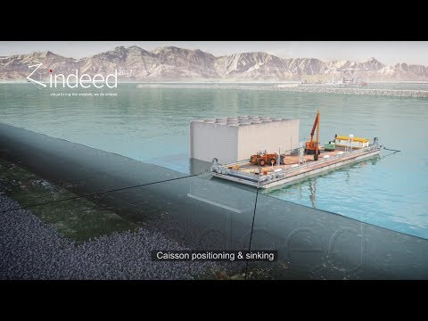 Saqr Port Extension Construction Animation