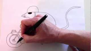 How to draw the mouse and the motorcycle