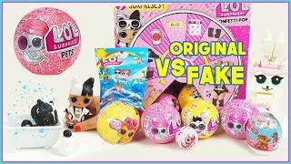 LOL surprise  PETS serie 4, ORIGINAL vs FAKE, LOL surprise serie 3, charm Fizz, Lego 🐶🐾😺
