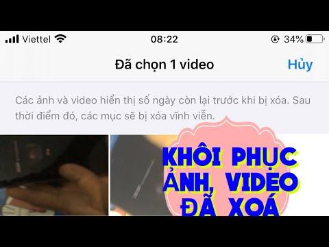 Cách khôi phục ảnh, khôi phục video đã xóa trên iphone