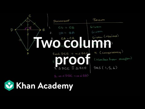 Two Column Proof Showing Segments Are Perpendicular | Congruence | Geometry | Khan Academy