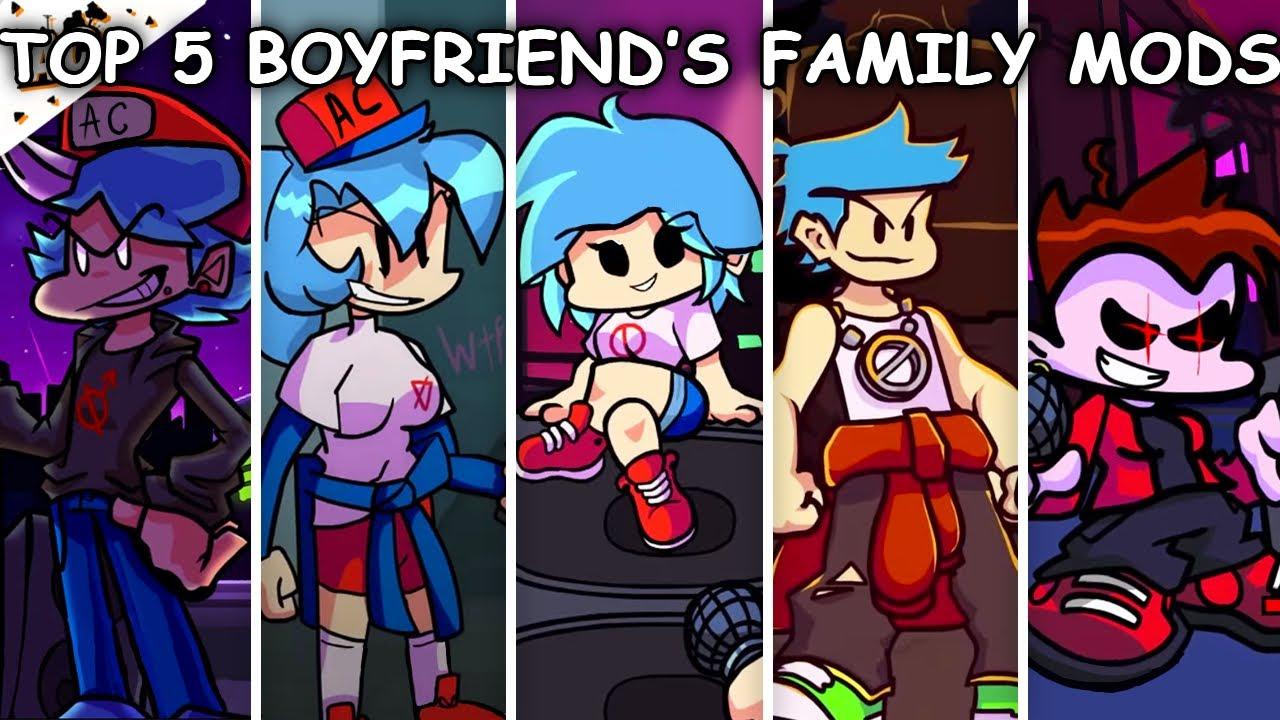 Top 5 Boyfriend's Family Mods #2 - Friday Night Funkin'