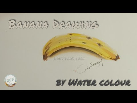 How To Draw a Banana by water colour ||Step by step || Tutorial thumbnail
