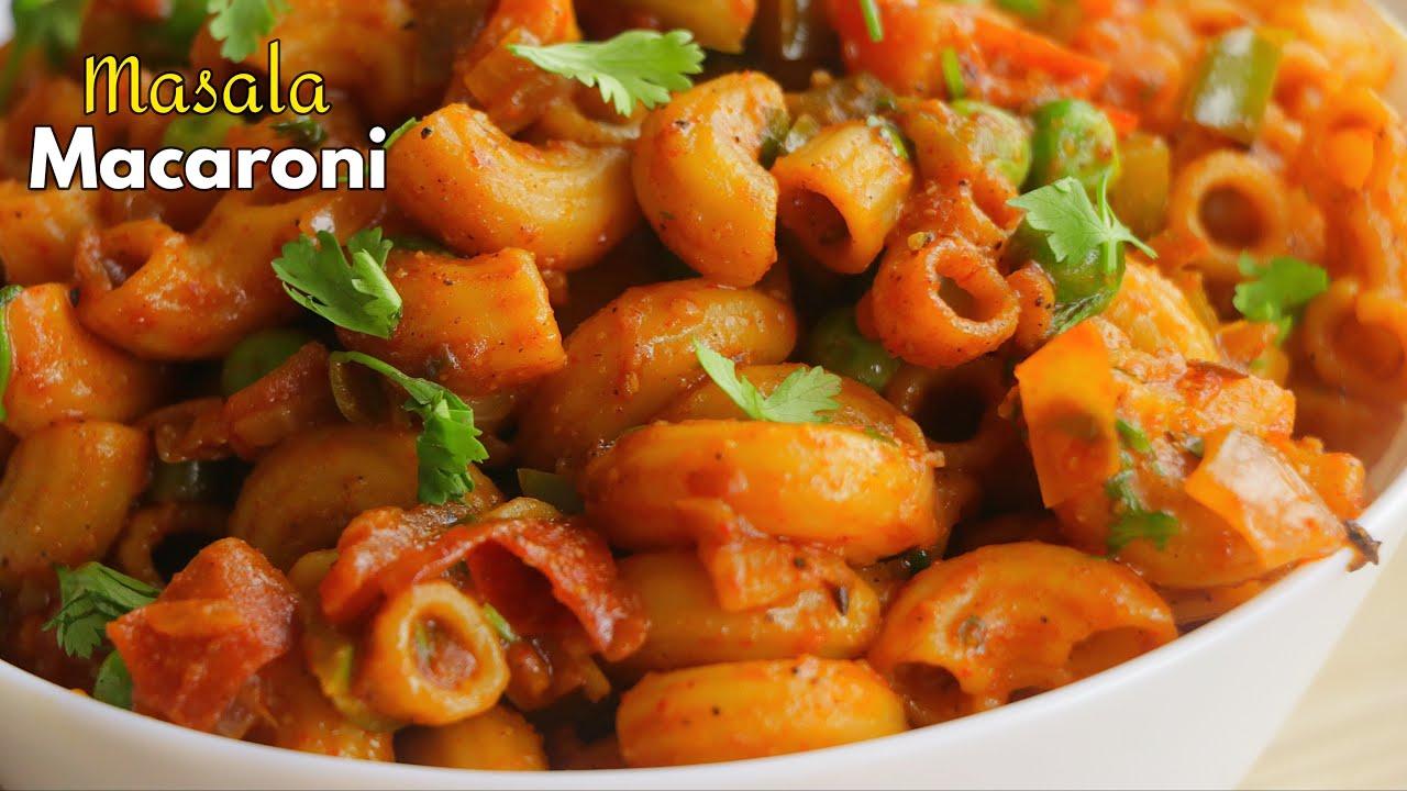 మసాలా మాక్రోనీ | Desi pasta recipe | Masala Macaroni Recipe at home in Telugu || @Vismai Food