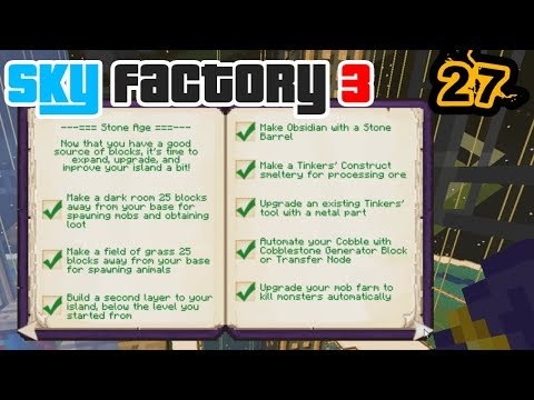 Achieving Achievements ft. Enchanting | Minecraft: New Sky Factory 3 Ep. 27