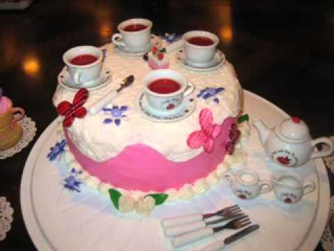 Easy Tea Party Birthday Cakes Decor Ideas Youtube