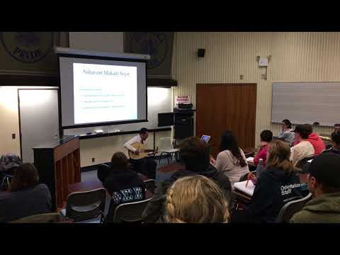Guest Lecture on classical Turkish music, Hofstra University, October 9, 2017