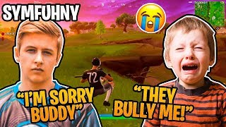 Little Kid Gets BULLIED At School For Wearing Symfuhny's Merch (Fortnite Highlights)