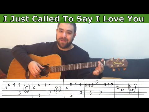 Fingerstyle Tutorial: I Just Called to Say I Love You - Guitar Lesson w/ TAB
