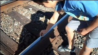 CSX Train Flattens Little Boys Pennies