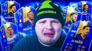 Using a FULL TOTS LIGUE 1 TEAM in fut champs on FIFA 19...
