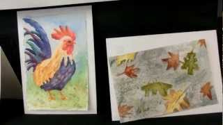 Watercolor Postcards. SCVWS - Santa Clara Valley Watercolor Society party 2013