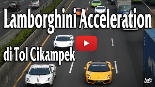 lamborghini club indonesia passing bekasi timur on cikampek highway km 18 loud sound acceleration