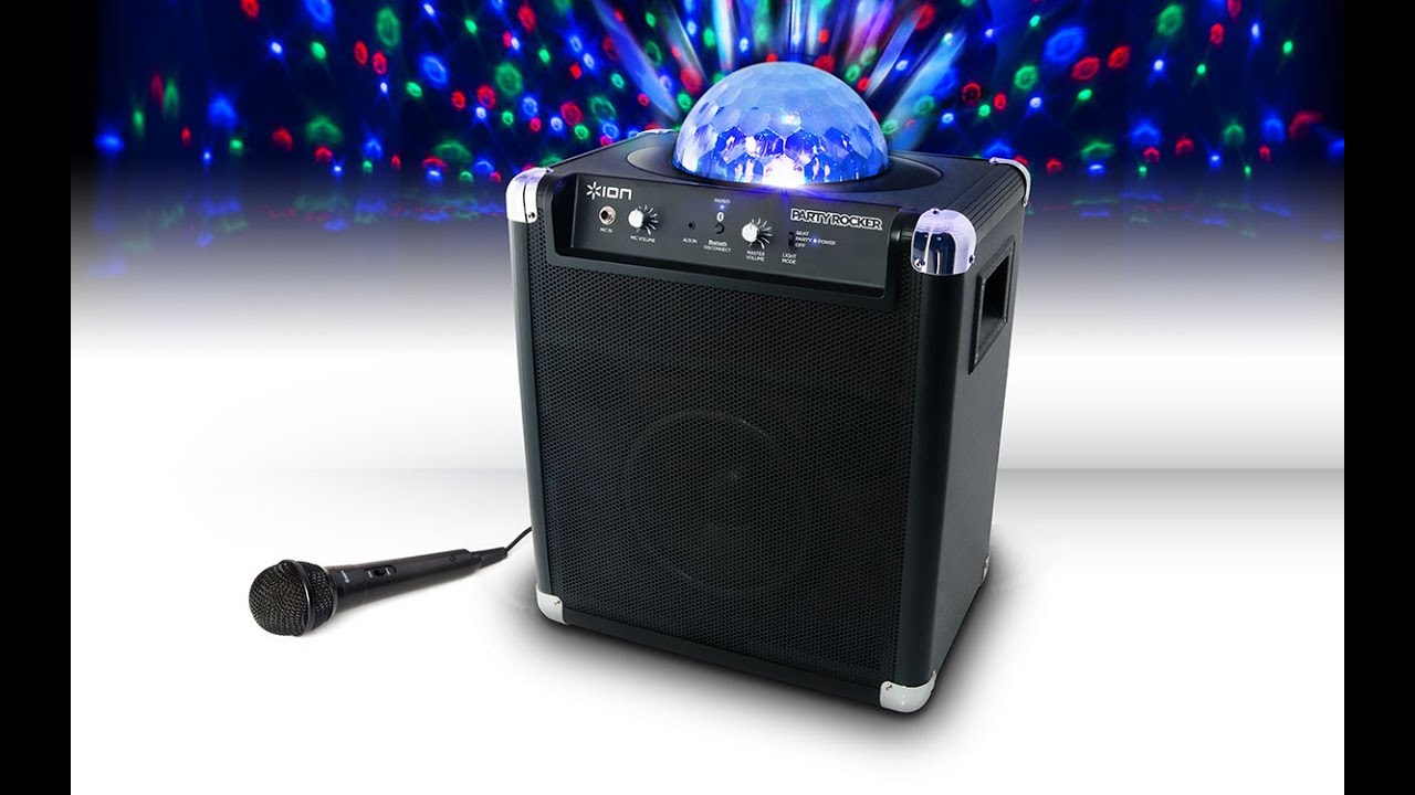 Jb Lighting Wireless Ion Party Rocker With Party Lights Mic Bluetooth Speakers Jb Hi Fi