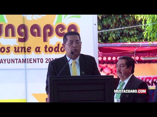Jorge Manuel Colín Rinde informe de gobierno en Jungapeo