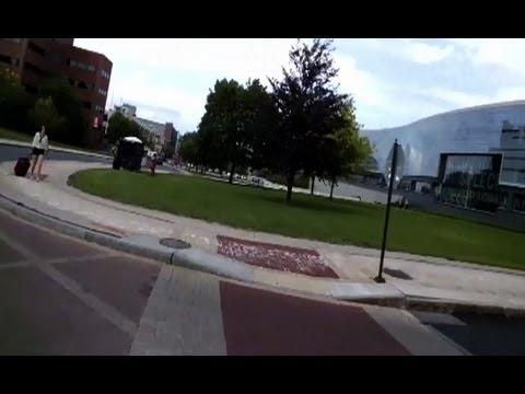 Syracuse University's Marshall Street #throughglass on a bicycle