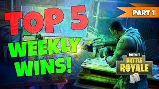 My TOP 5 Weekly Wins Part 1! GRENADE HEADSHOT! Fortnite Battle Royale