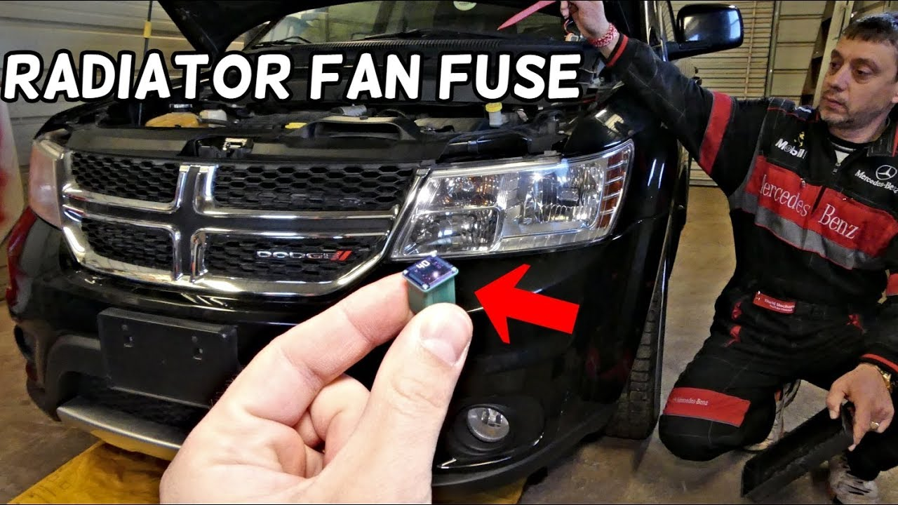 DODGE JOURNEY RADIATOR FAN FUSE LOCATION REPLACEMENT FIAT FREEMONT