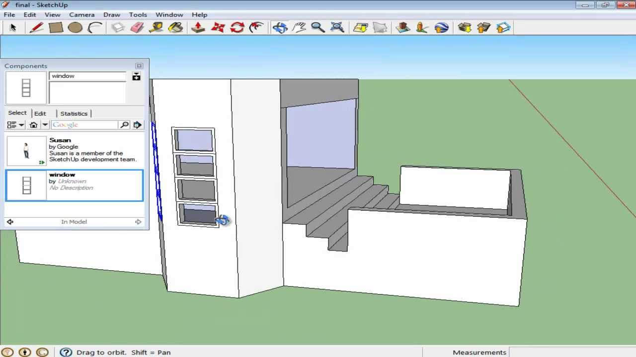 How to get components on sketchup