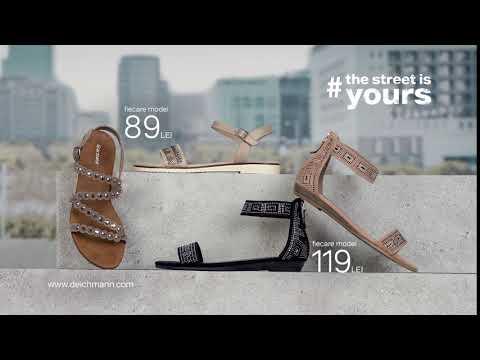 Sandale de vară cu talpă plată. De la Deichmann.