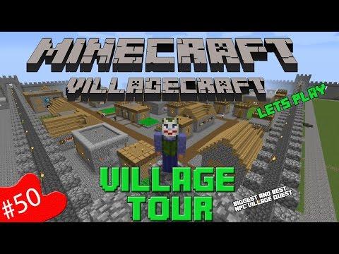 Minecraft Village Craft | Lets Play | Part 50 | Full Village Tour