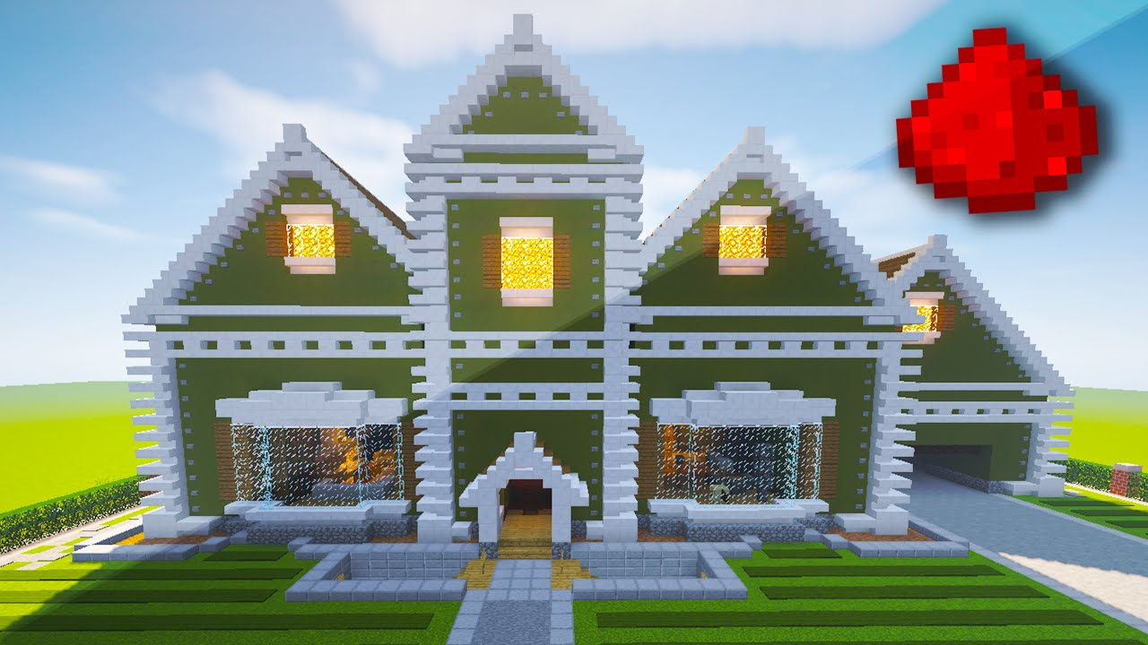 REALISTIC REDSTONE HOUSE Fully Function Redstone House Minecraft - Minecraft coole hauser maps