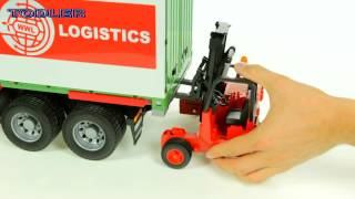 Bruder 03580 Scania R-Series Cargo Truck with Forklift REVIEW
