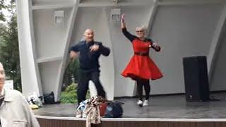 И снова седая ночь!!!Народные танцы, парк Горького,Харьков!!!