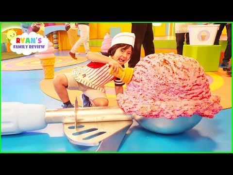 Ryan's Mystery Playdate Giant Ice Cream Challenge Premiere Today on Nickelodeon!!