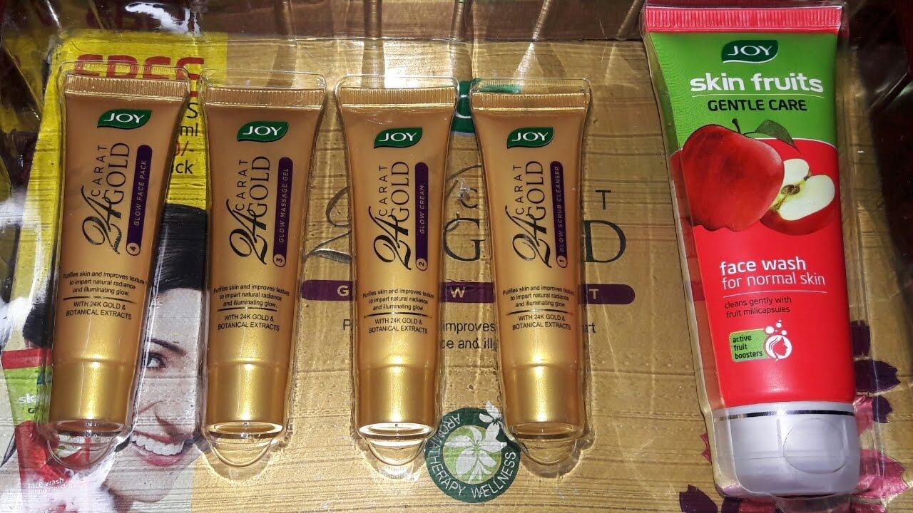 Joy 24 Carat Gold Glow Facial Kit Review Youtube