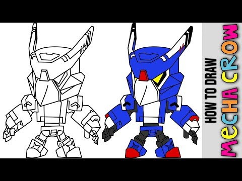 Brawl Stars How To Draw Mecha Crow New Skin From Brawl Stars