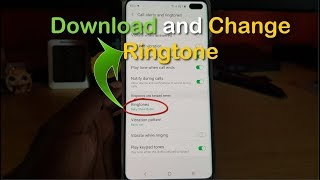 Gambar cover How to download and Change Ringtone Galaxy S10
