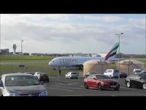 Emirate A380, Qatar Dreanliner at Birmingham Airport (BHX) 29/10/2017