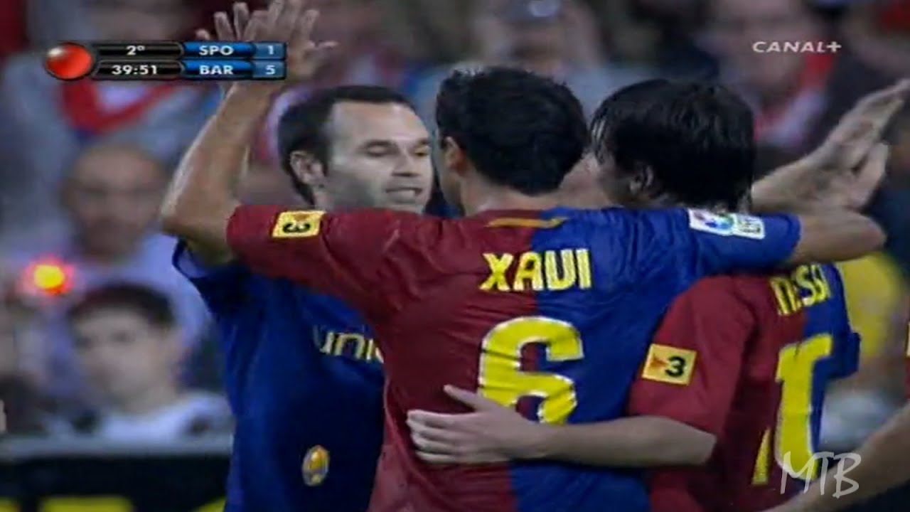 The First Show of the Messi, Xavi, Iniesta Trio ● 2008
