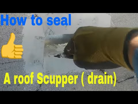 ROOF APPLICATIONS : How To Seal  A Flat Roof Scupper ( Drain)